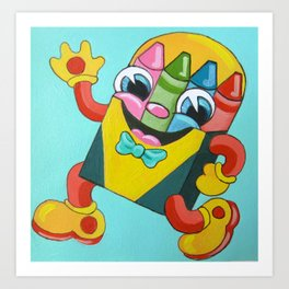 Let's All Go Back to School: Crayons! Art Print