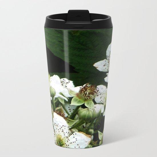 Fraises des bois Flowers Metal Travel Mug