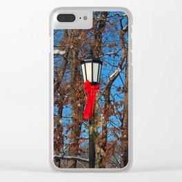 Wildwood Lightpost in Winter III Clear iPhone Case