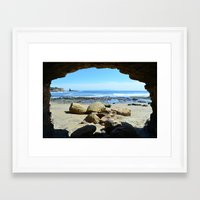 frame Framed Art Prints featuring Frame by Monica Ortel ❖