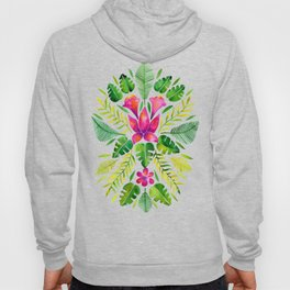 Tropical Symmetry – Pink & Green Hoody