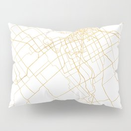 OTTAWA CANADA CITY STREET MAP ART Pillow Sham