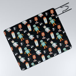 Mr. Roboto Black Picnic Blanket