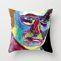 david tennant Throw Pillows featuring Tenth Doctor / David Tennant by Siriusreno