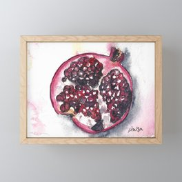 Pomegranate Watercolor Framed Mini Art Print