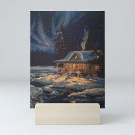 Blue Aurora Nights Mini Art Print