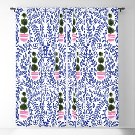 Southern Living - Chinoiserie Pattern Blackout Curtain