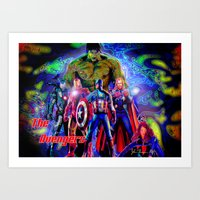 young avengers Art Prints featuring  A vengers by JT Digital Art