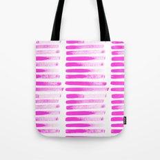 Raspberry Brush Strokes Tote Bag