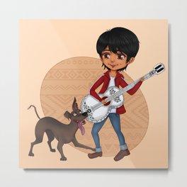 Miguel and Dante - Cute Chibi Metal Print