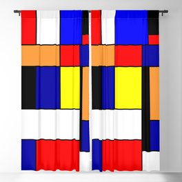 Mondrian #1 Blackout Curtain