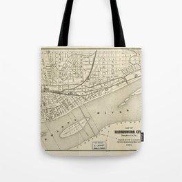 Map of Harrisburg, Pennsylvania (1884) Tote Bag