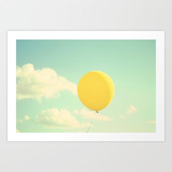 yellow balloon Art Print