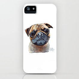 I AM A PUG by Shirley MacArthur iPhone Case
