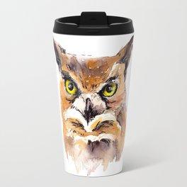 Owl Watercolor Travel Mug