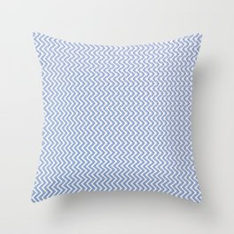 Abstract chevron pattern in serenity blue Throw Pillow