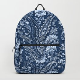 Blue indigo paisley Backpack