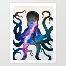 Galaxy Octopus Art Print