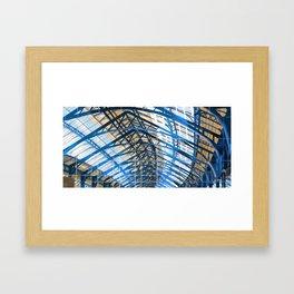 Brighton Railway station roof Framed Art Print