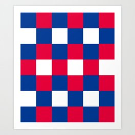 Checkered Flag - Tricolore Art Print