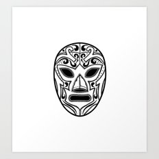 Mexican Wrestling Mask Art Print