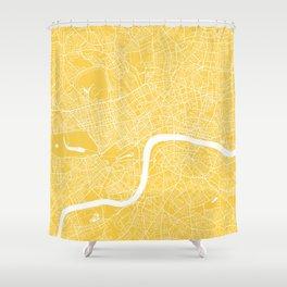 London map yellow Shower Curtain