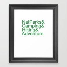 National Parks & Hiking & Camping & Adventure Framed Art Print