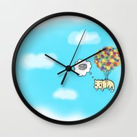 tote bag Wall Clocks featuring Cat Bag by sumyunguh