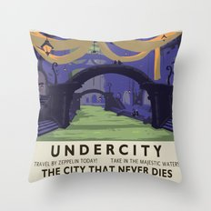 Undercity Classic Rail Poster Throw Pillow
