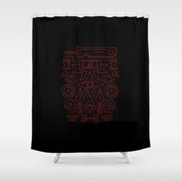 Ninja's Stuff Shower Curtain