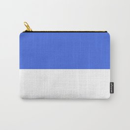 White and Royal Blue Horizontal Halves Carry-All Pouch
