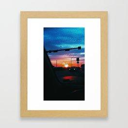 Watercolor Sun Framed Art Print