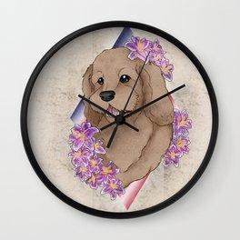 Doodle Pup Portrait Wall Clock