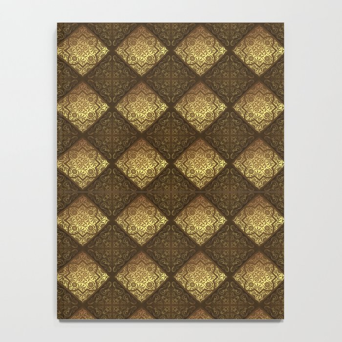 Vintage Flower Pattern Notebook