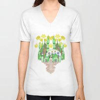 saga V-neck T-shirts featuring Saga by Elin Emanuelsson