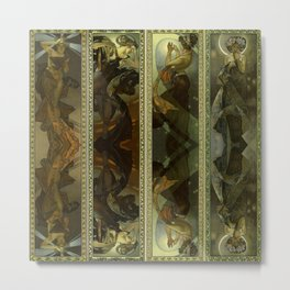 "Alphonse Mucha ""The Moon and the Stars Series"" Metal Print"