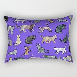 Marble Cats Ultraviolet Rectangular Pillow