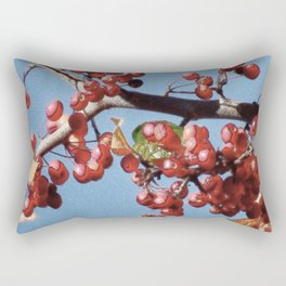 Autumn Crabapples Rectangular Pillow