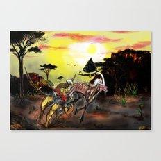Final Fantasy 8 Chimera vs Mesmerize Canvas Print