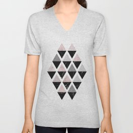 Diamonds modern art Unisex V-Neck