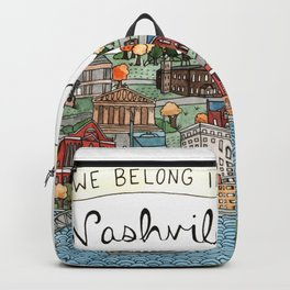 We Belong in Nashville Backpack