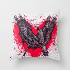just a little off the wrists zombie Throw Pillow