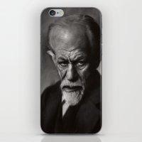freud iPhone & iPod Skins featuring Sigmund Freud by Jason Seiler