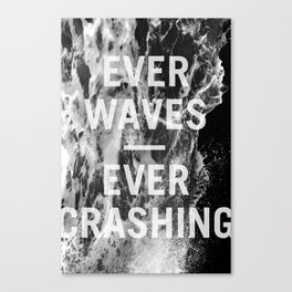ever waves – ever crashing (black and white) Canvas Print