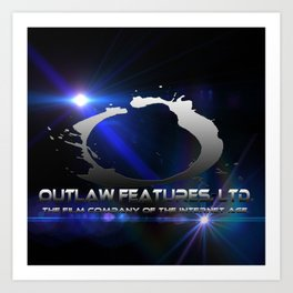 Outlaw Features, Ltd.  Silver Logo Art Print