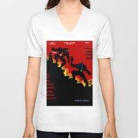 donkey V-neck T-shirts featuring Donkey Knight by Butcher Billy