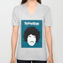 Jimi Hendrix, Minimalist Rolling Stone Magazine Cover Unisex V-Neck
