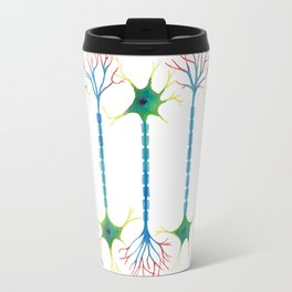 Neuron 5 in White Travel Mug