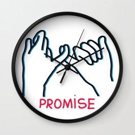 Promised hand emoji Wall Clock