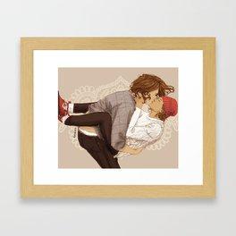 """"""" Hugs and Kisses """" Framed Art Print"""